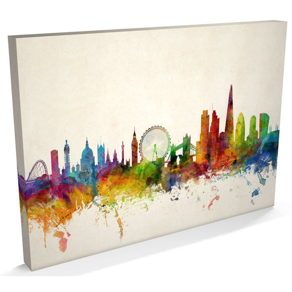 London City Skyline Canvas Print - AlsoKnownAs Lifestyle Collection