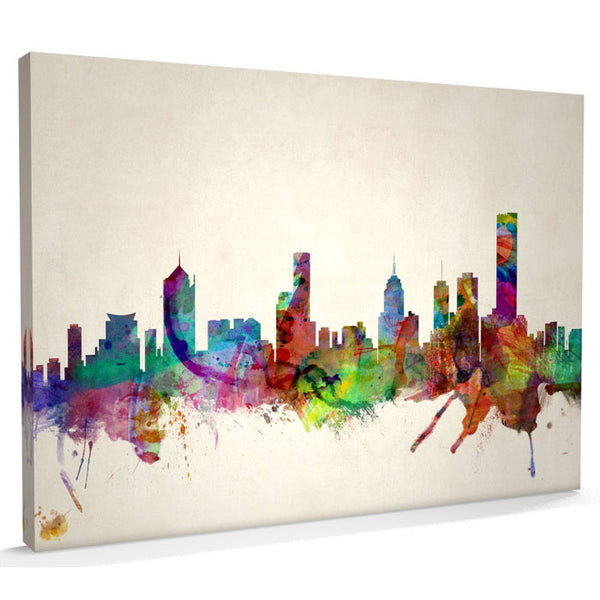 Melbourne City Skyline Canvas Print - AlsoKnownAs Lifestyle Collection