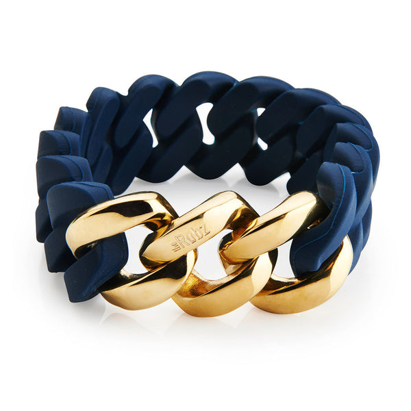 The Rubz Iconic Navy & Gold Bracelet - AlsoKnownAs Lifestyle Collection