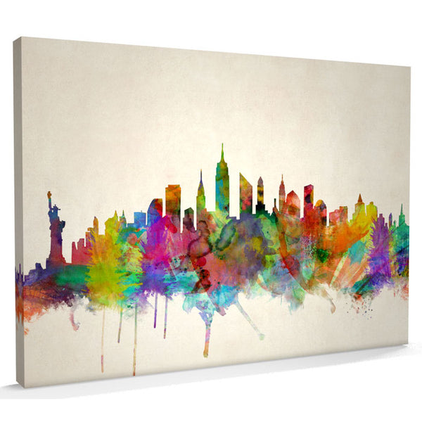 New York City Skyline Canvas Print - AlsoKnownAs Lifestyle Collection