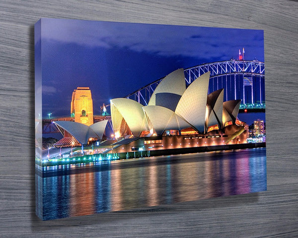 Prints On Canvas - Opera House Sydney Australia - AlsoKnownAs Lifestyle Collection