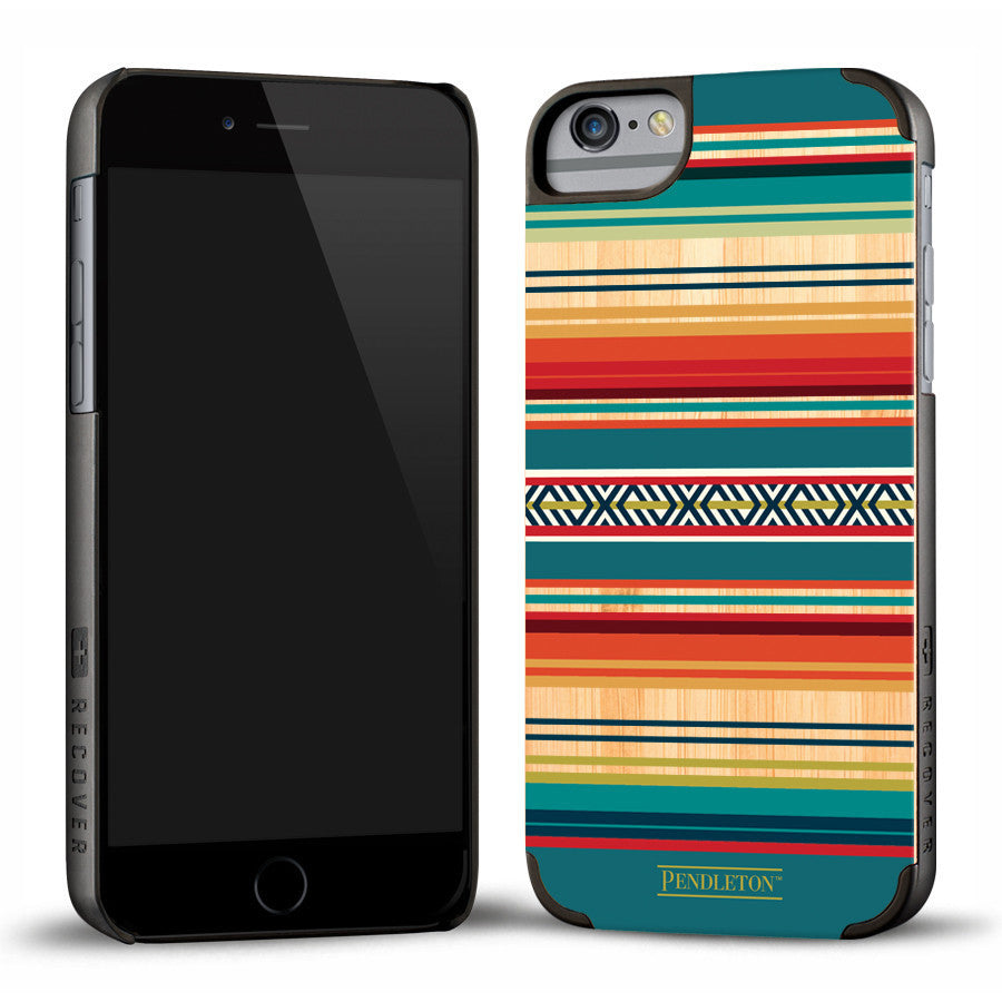 Recover Wooden Pendleton Serape Bamboo iPhone 6 case - AlsoKnownAs Lifestyle Collection