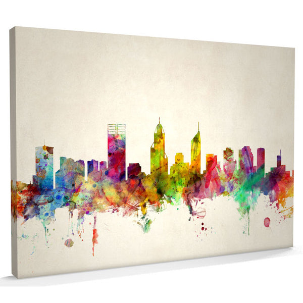 Perth City Skyline Canvas Print - AlsoKnownAs Lifestyle Collection