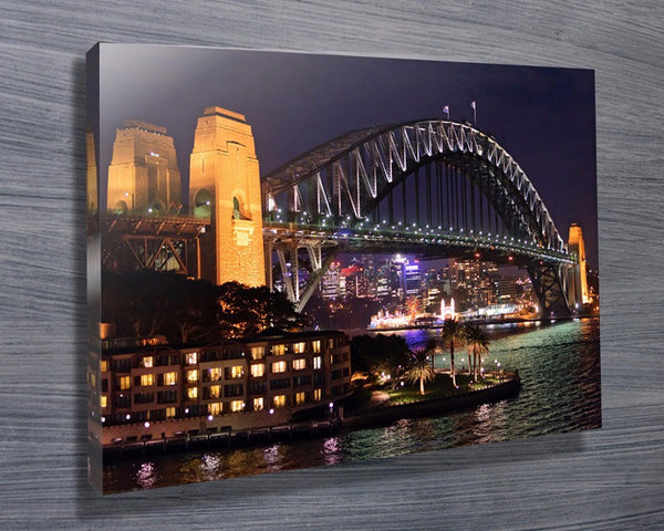 Prints On Canvas - Sydney Harbour Bridge - AlsoKnownAs Lifestyle Collection