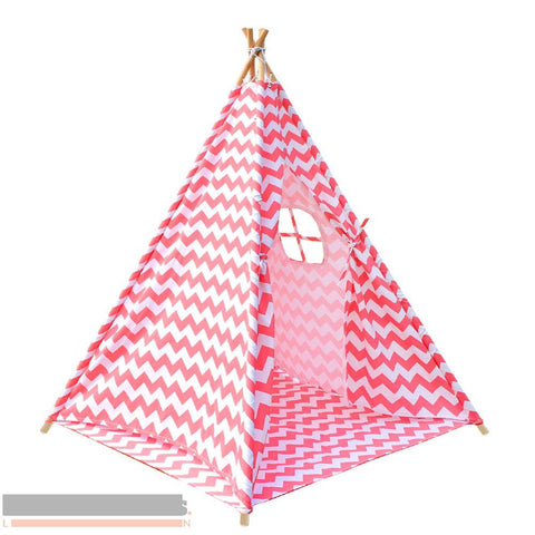 Coral Chevron 4 pole Teepee with storage bag