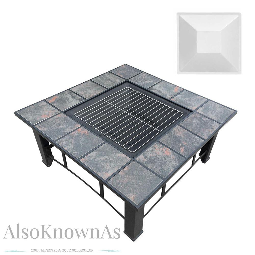 In Outdoor Grilling Table And Fire Pit - Grill table fire pit all in one