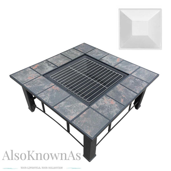 4 in 1 Outdoor Grilling Table and Fire Pit