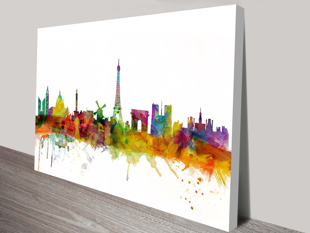Prints On Canvas - Michael Tompsett - Paris France Skyline - AlsoKnownAs Lifestyle Collection