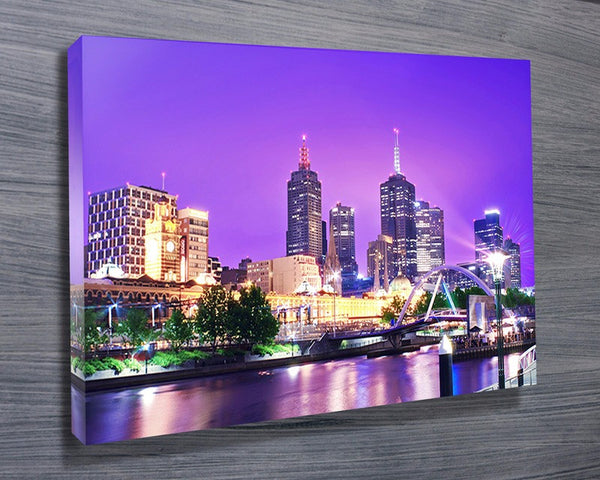 Prints On Canvas - Stunning Melbourne Cityscape - AlsoKnownAs Lifestyle Collection
