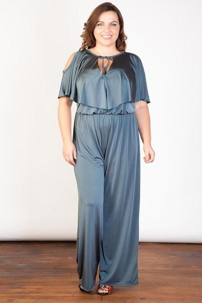 Satin Nights Frill Jumpsuit