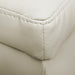Large Ottoman PU Cream Leather