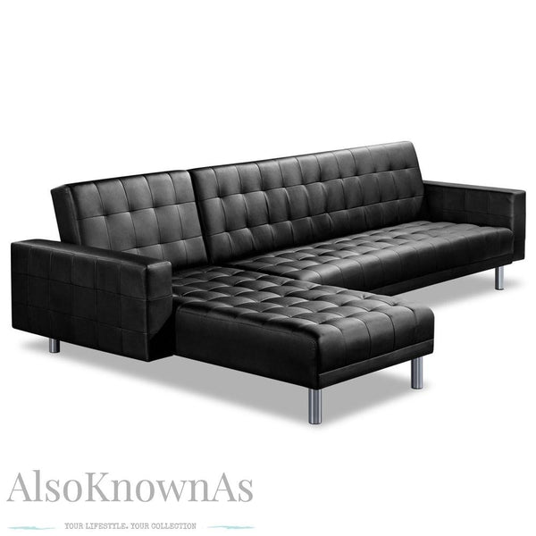 Vegan Leather Sofa Bed 5 Seater