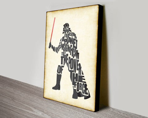 Darth Vader canvas wall print art