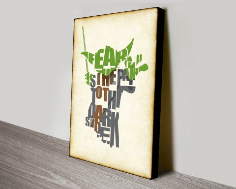 Yoda Star Wars Canvas Wall Art