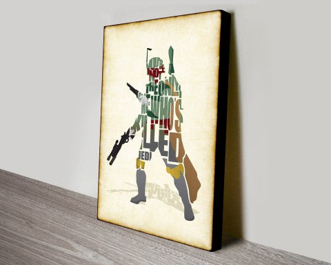 Boba Fett Star Wars canvas wall art print