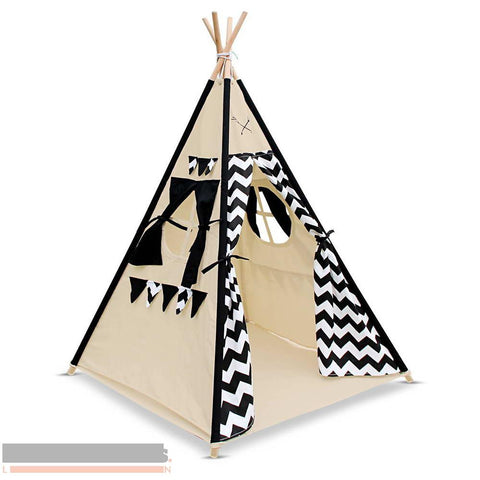 Black and White Chevron 4 pole Teepee