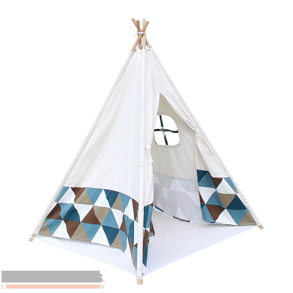 Green and Blue Banner 4 pole Teepee with storage bag