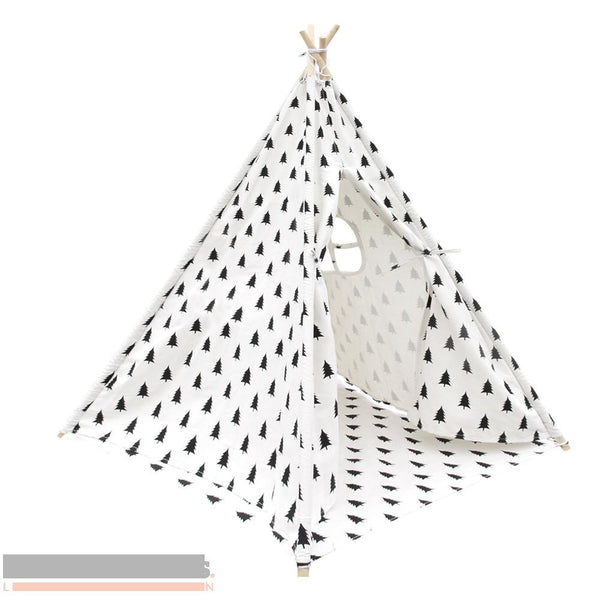 Tree print 4 pole Teepee with storage bag