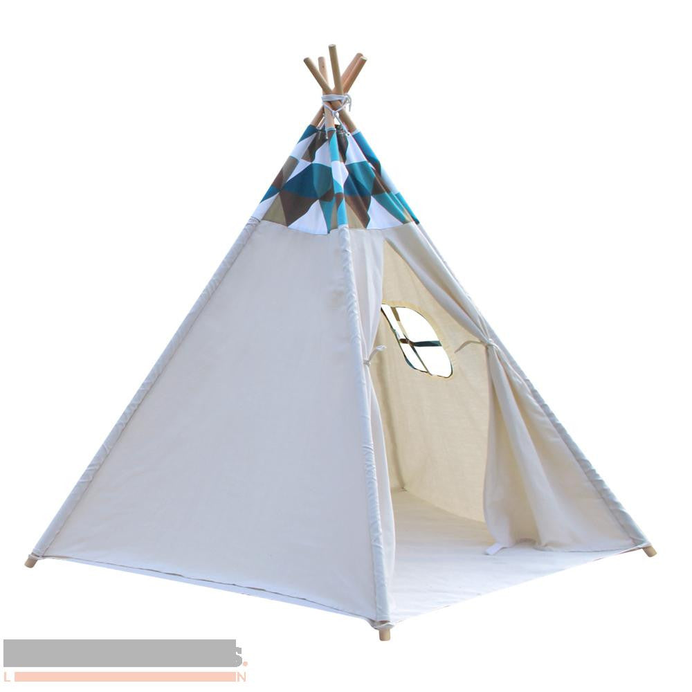 Green and blue top banner 5 pole Teepee