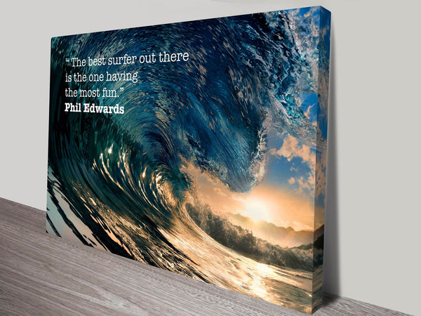 Prints On Canvas - The Best Surfer - AlsoKnownAs Lifestyle Collection
