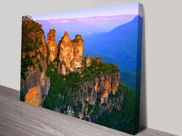 Prints On Canvas - Blue Mountains Three Sisters - AlsoKnownAs Lifestyle Collection