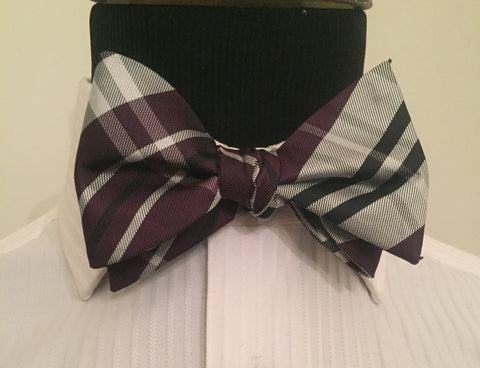 Jumbo Plaid Purple and Silver