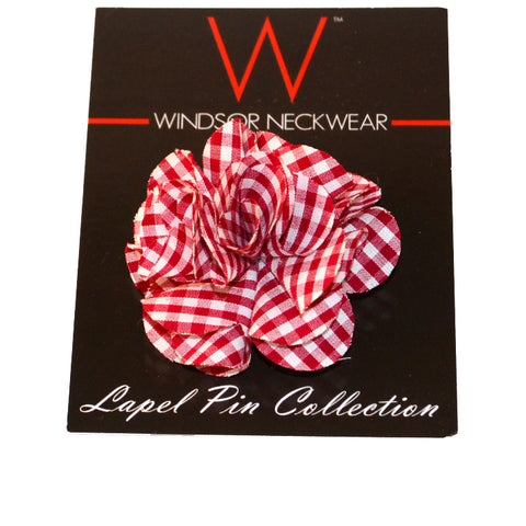Red Gingham (Floral Lapel Pins)