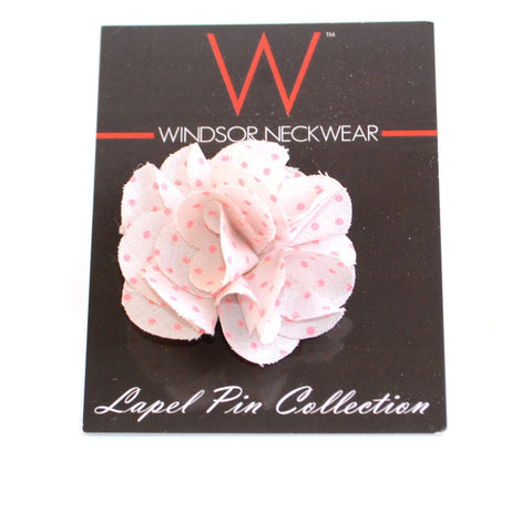 Grey and Pink Dot (Floral Lapel Pins)