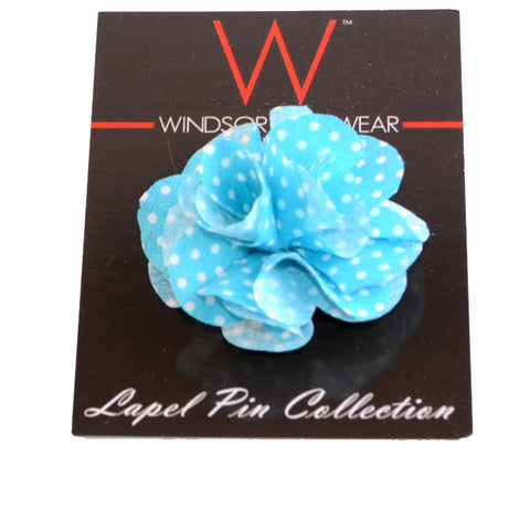 Light Blue and White Dot (Floral Lapel Pins)
