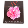 Pink and White Dot (Floral Lapel Pins)