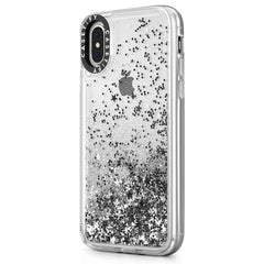 Casetify Glitter Case Silver for iPhone XS