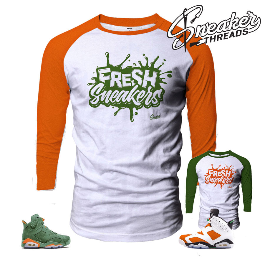 1f6750549c324c Jordan 6 Gatorade tee shirt Match Retro 6 be like mike tee shirts.