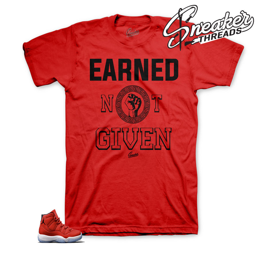 jordan 11 win like 96 shirts | Earned not given tee.
