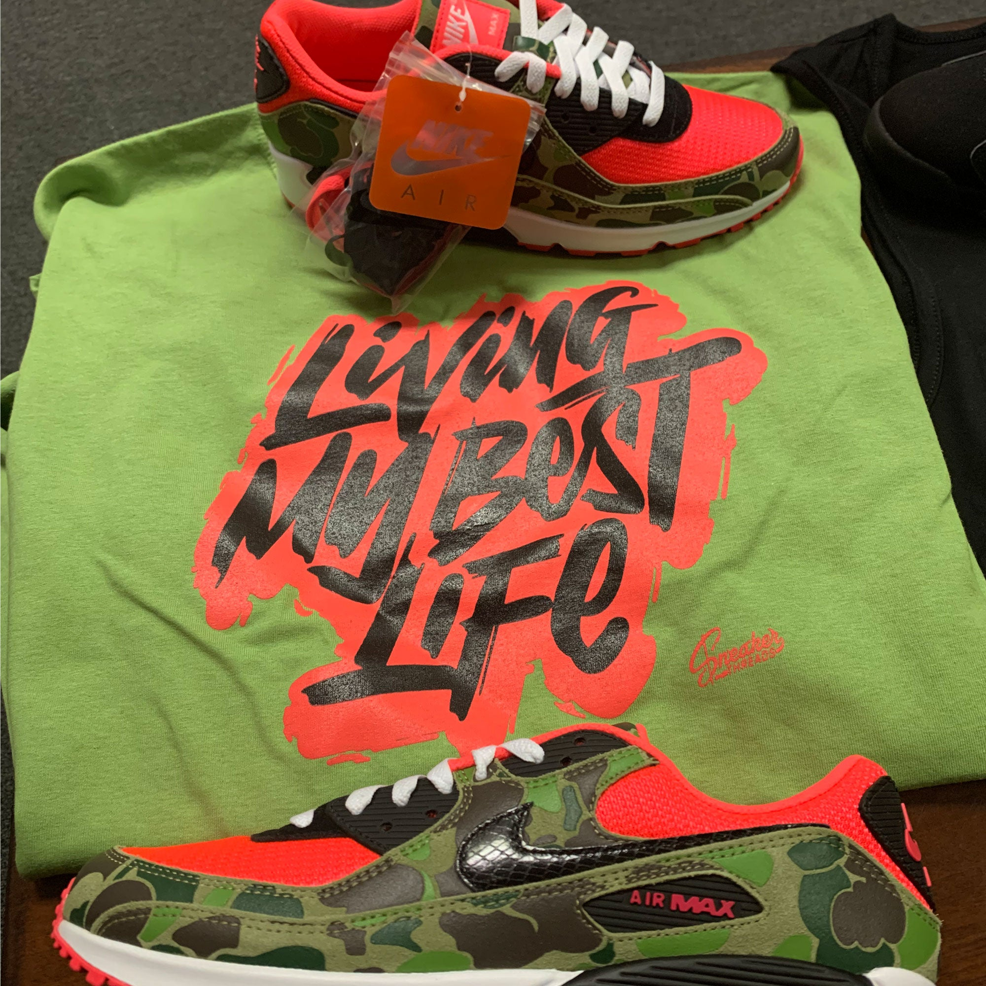 Air Max 90 Duck Camo Living Life Shirt