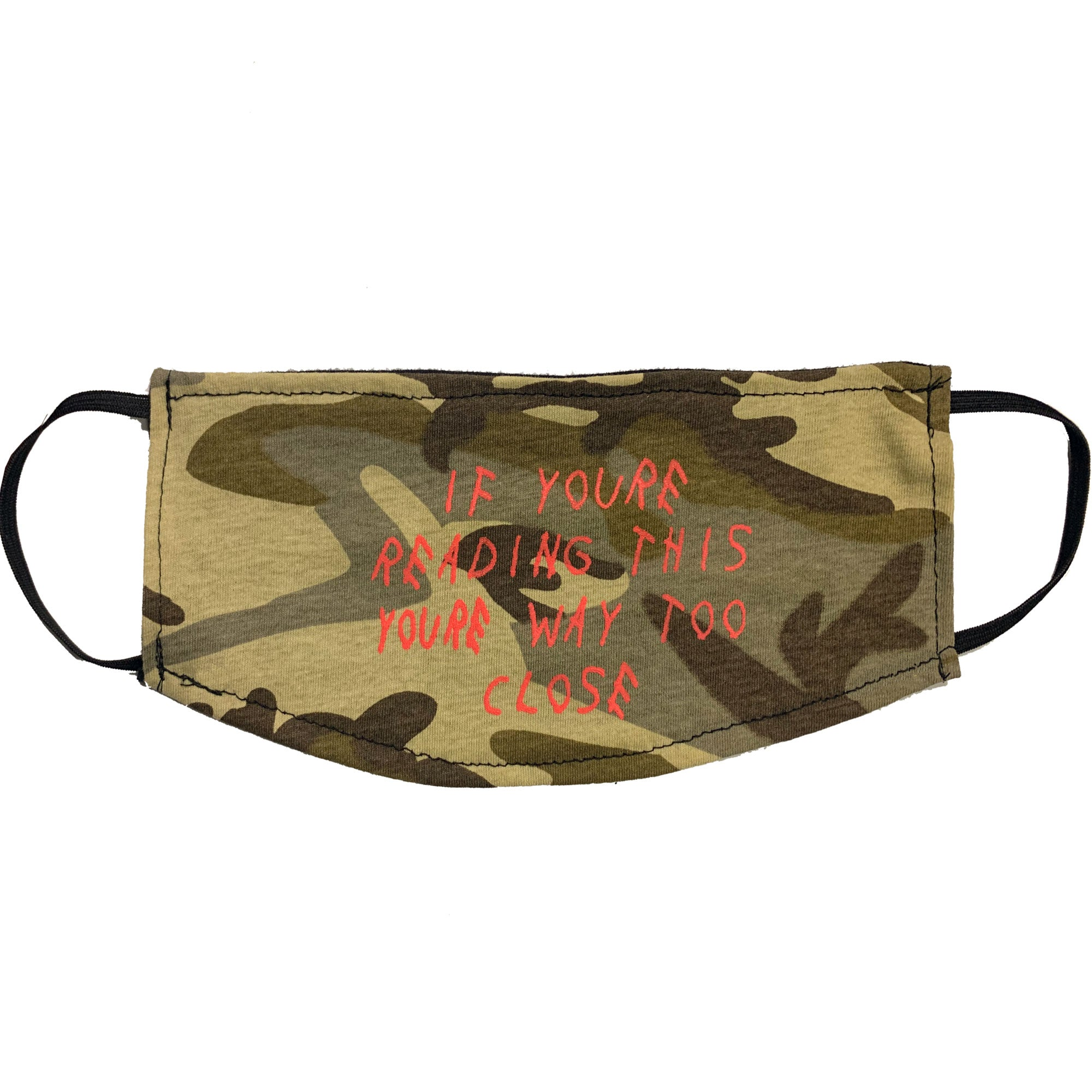 Adult Face Mask - Too Close Desert Camo Design