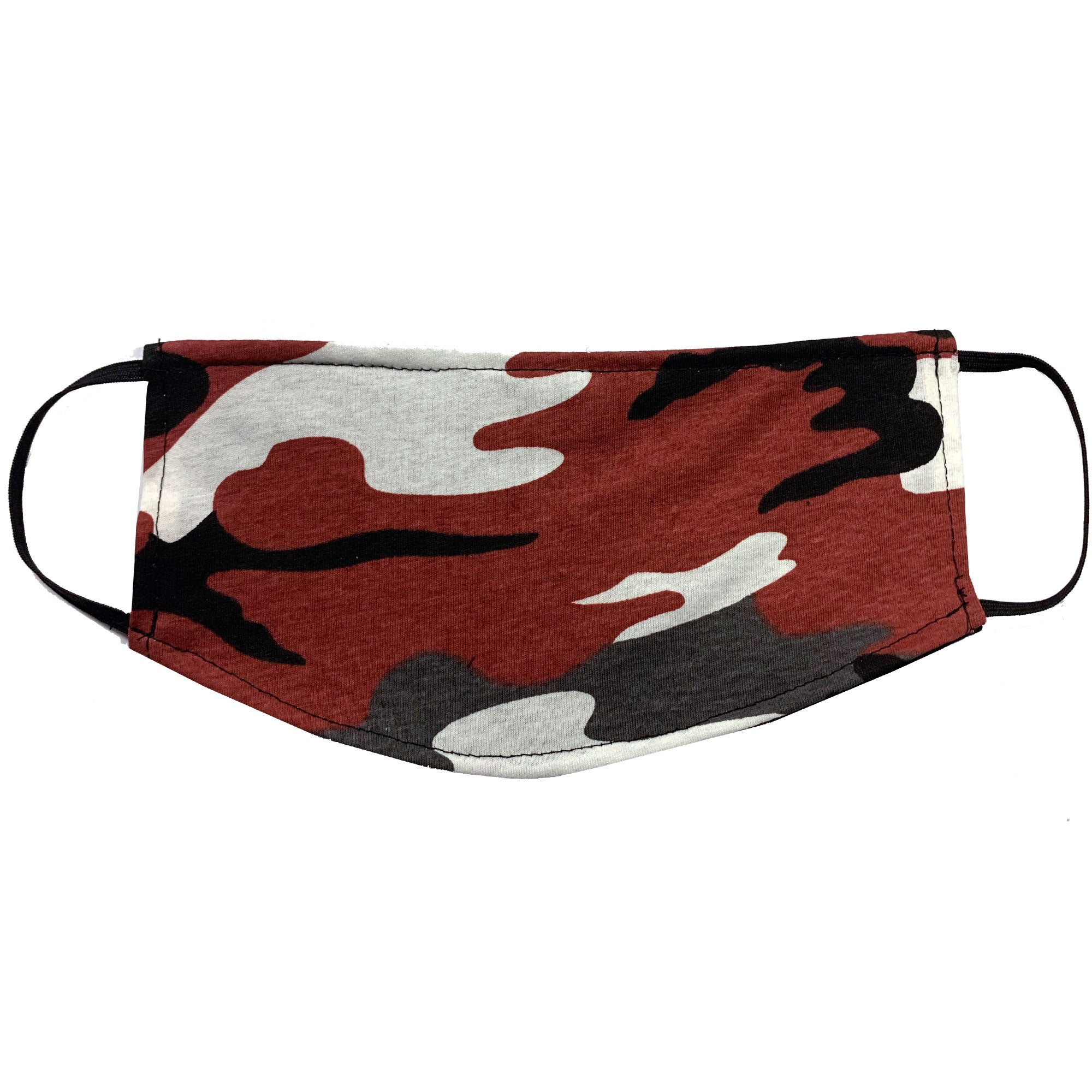 Adult Face Mask - Red Camo Design