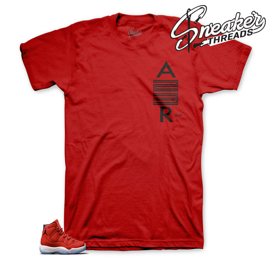 Jordan 11 win like 96 tees | dope gym red shirt match retro 11.