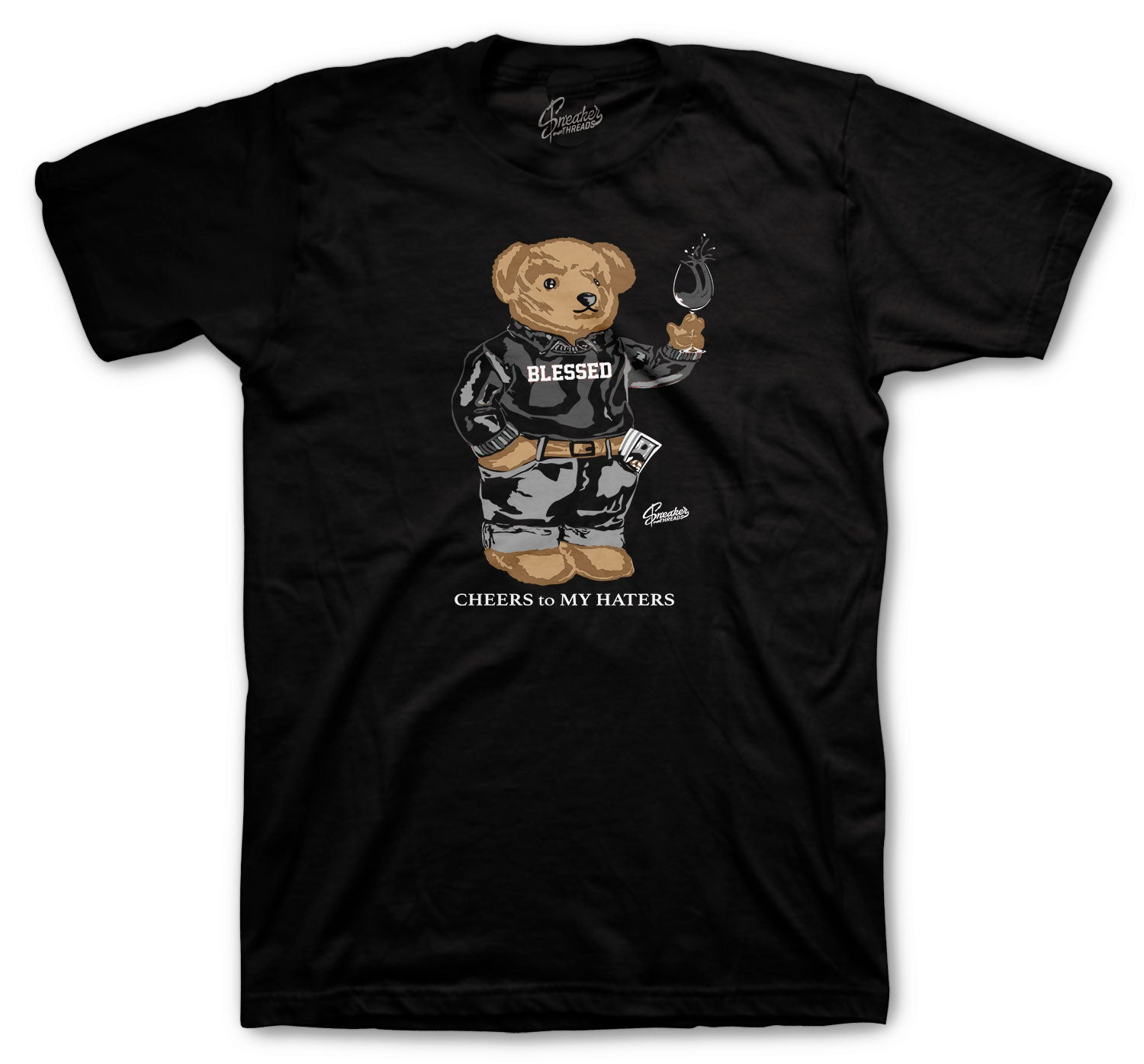 Jordan 4 Black Cat Cheers Bear Shirt