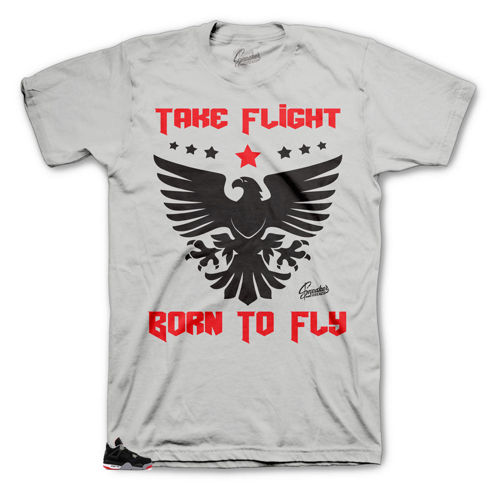 Jordan 4 Bred Born to fly shirt