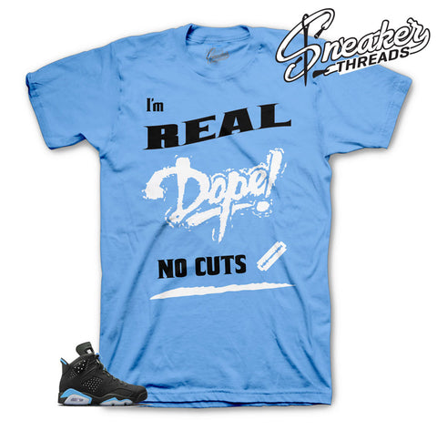 UNC Jordan 6 tee match retro 6 university blue sneakers | Official tees
