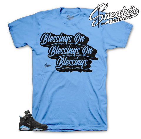 Carolina blue Jordan 6 tee match retro 6 sneakers | Official tees
