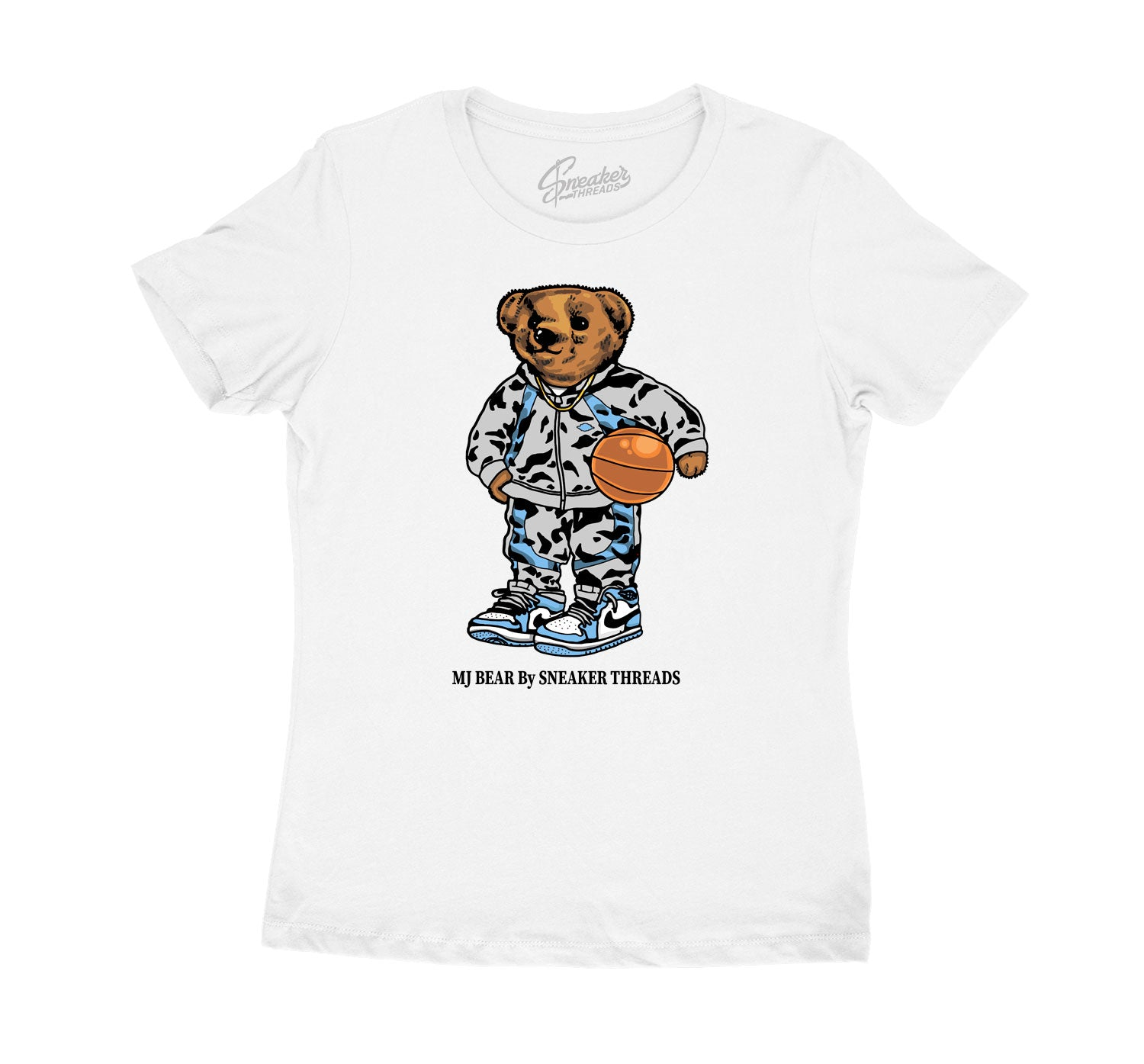 Womens - University Blue 1 MJ Bear Shirt
