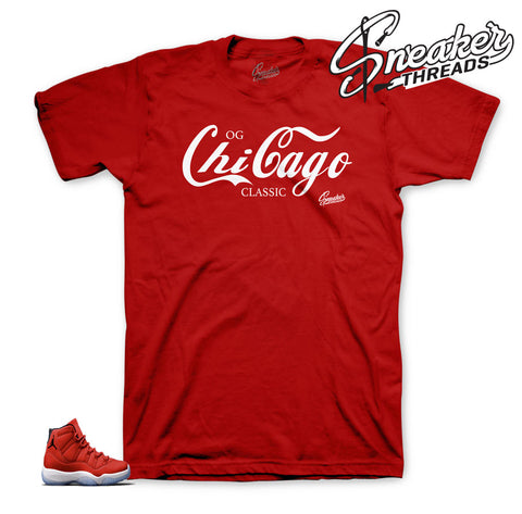 Tees to match Jordan 11 win like 96 | Og chicago class tee.