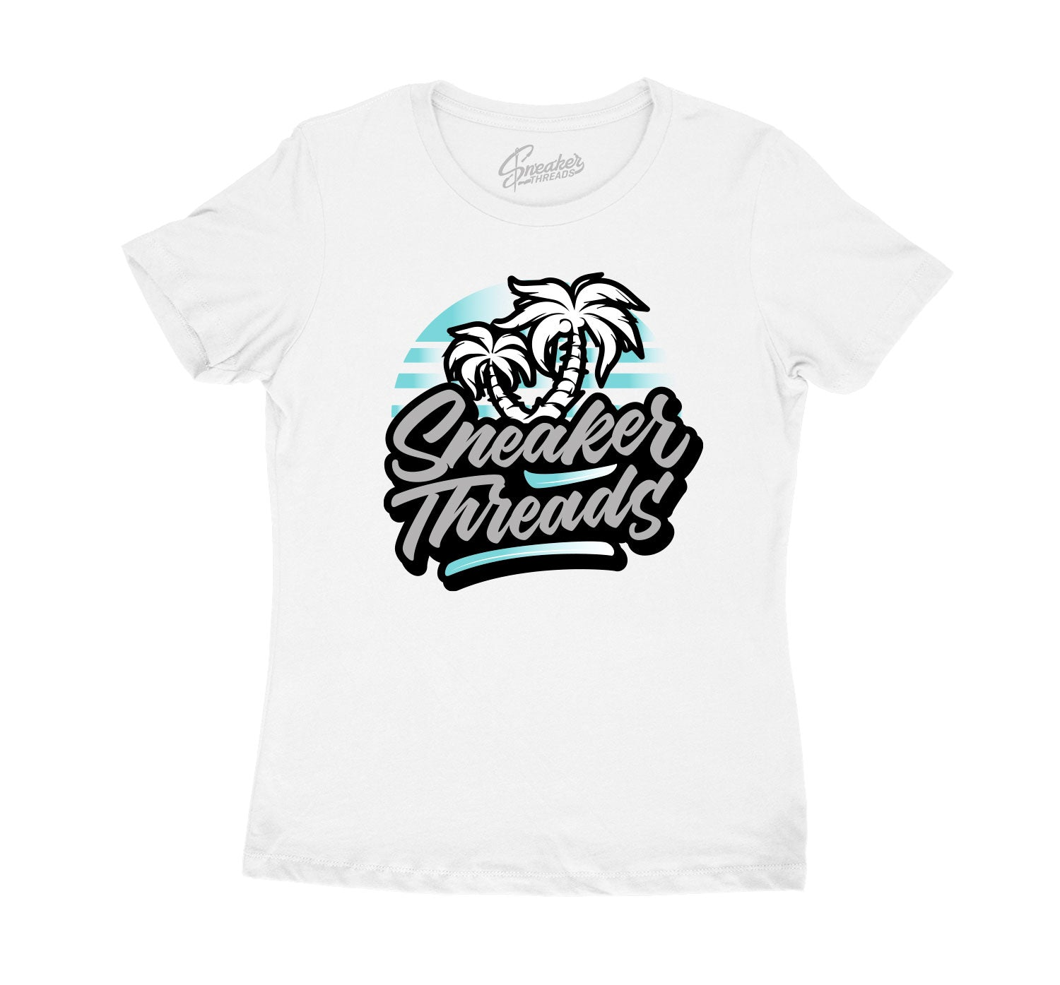Womens sneaker tees match retro 5s island green shoes.