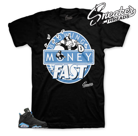 Jordan 6 UNC apparel match retro 6 sneakers | Retro 6 UNC tees.