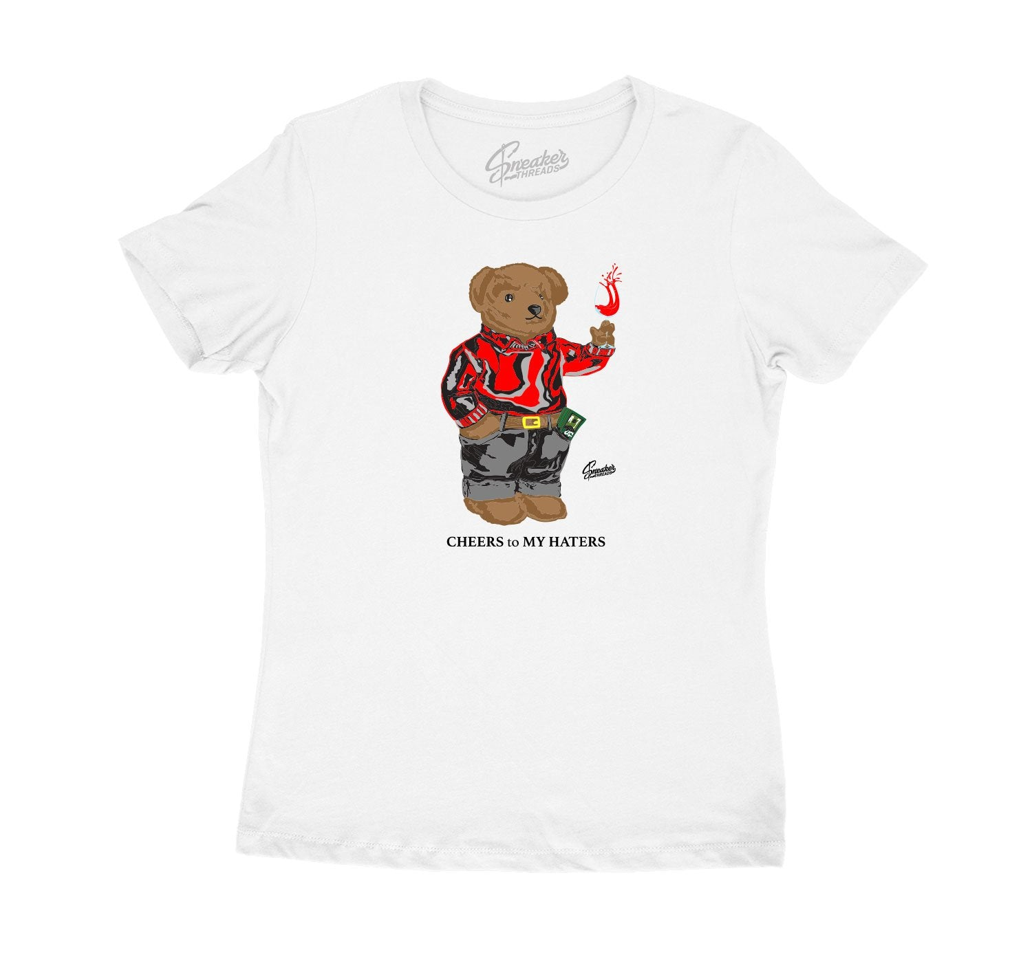 womens t shirts created to match the Jordan 11 bred retro sneakers