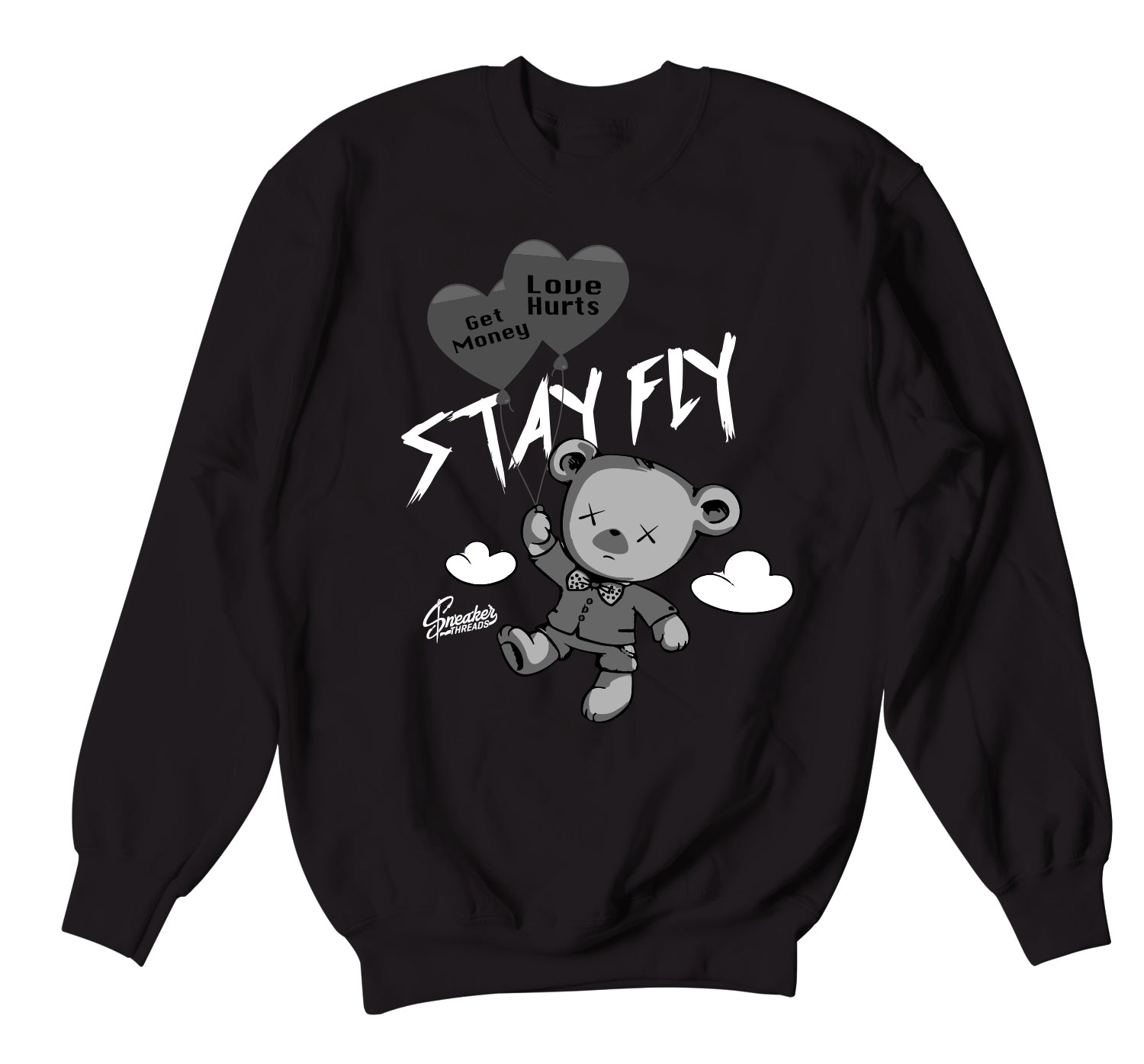 Jordan 4 Black Cat Money Over Love Sweater