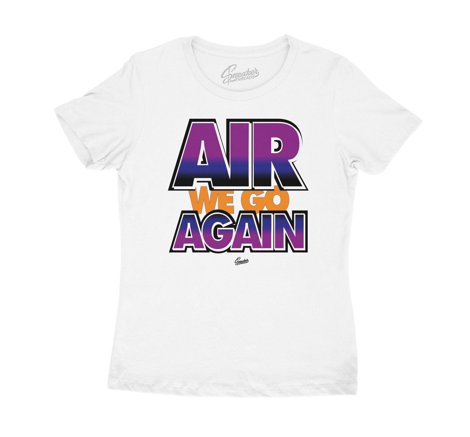 Ladies shirt created to match the Jordan 4 Rush Violet perfect