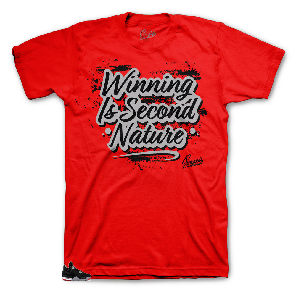 Jordan 4 bred best shirts to match with shoe