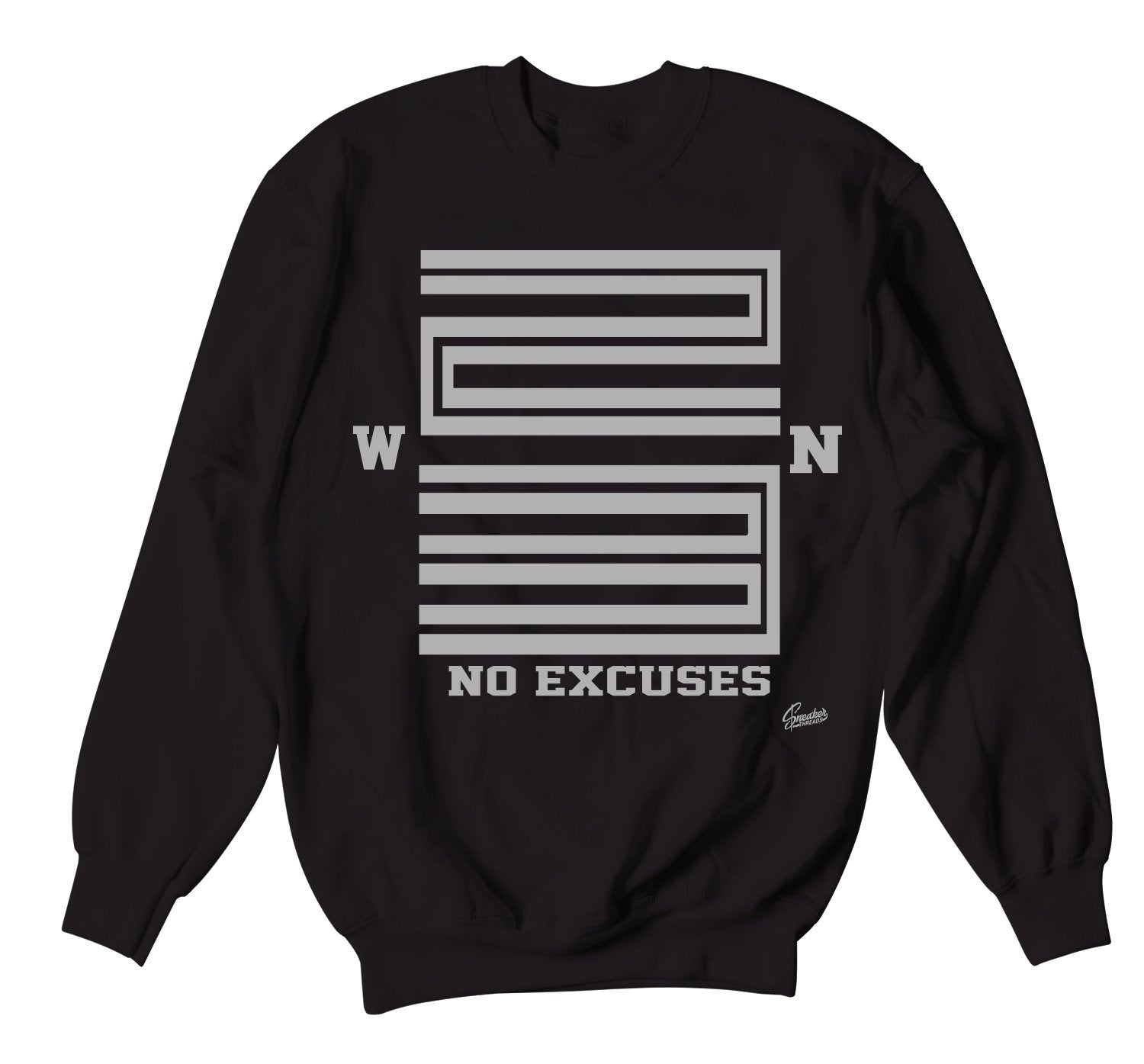 Crewneck sweaters created to match the Jordan 11 metallic silver sneaker collection